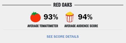 Rottentomatoesでのレッドオークスの評価