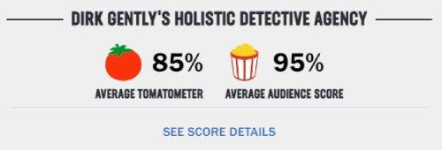 海外ドラマ「ダークジェントリーDirkGently」Rotten Tomatoesの評価